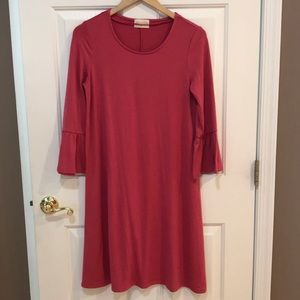 Bella Ella Boutique Ruffle Sleeve Dress M NWOT